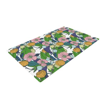 Catherine Holcombe Spring Foliage Floral Pastels Area Rug Rug Size: 2 x 3