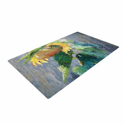 Carol Schiff Lonely Sunflower Yellow/Nature Area Rug