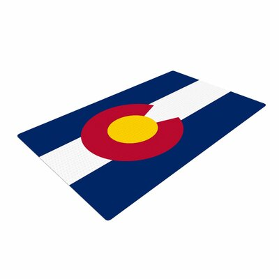 Bruce Stanfield Colorado State Flag Blue/Red Area Rug