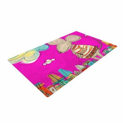 Carina Povarchik Urban Mouse  Magenta Pink/Yellow Area Rug