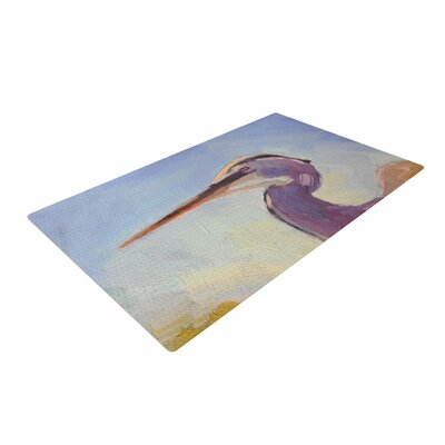 Carol Schiff Tropical Sentry Animals Lavender Area Rug Rug Size: 2 x 3
