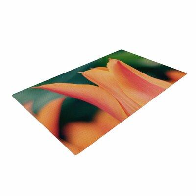 Angie Turner Orange Tulip Orange/Green Area Rug