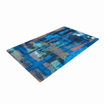 Bruce Stanfield Hyper Blue Painting Beige Area Rug