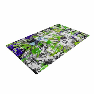 Bruce Stanfield Life Through Adversity 2 Abstract Green Area Rug