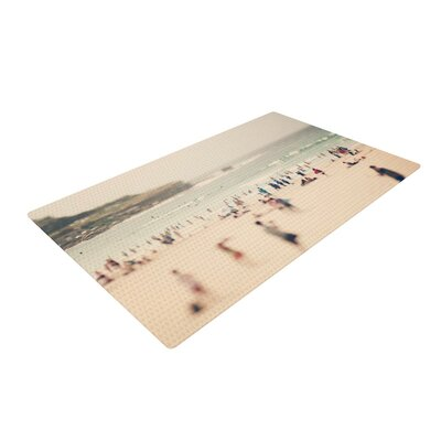 Catherine McDonald Bondi Beach Coastal People Gray Area Rug Rug Size: 2 x 3