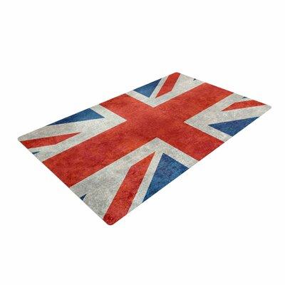 Bruce Stanfield UK Union Jack Flag Red/Blue Area Rug