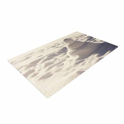 Angie Turner Snowman White/Nature Area Rug