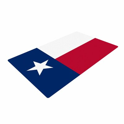 Bruce Stanfield Texas Flag Red/Blue Area Rug