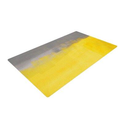CarolLynn Tice a Simple Abstract Yellow/Gray Area Rug
