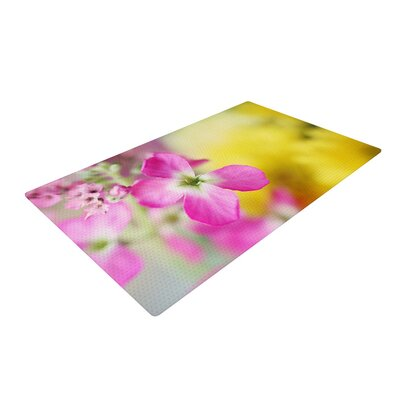 Beth Engel Lucky One Floral Photography Pink/Yellow Area Rug Rug Size: 2' x 3'