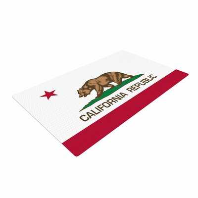 Bruce Stanfield California State Flag Red/White Area Rug