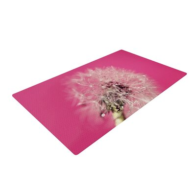 Beth Engel Pink Twilight Dandelion Magenta Area Rug Rug Size: 2' x 3'