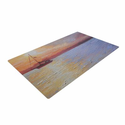 Carol Schiff Evening Anchor Painting Orange Area Rug