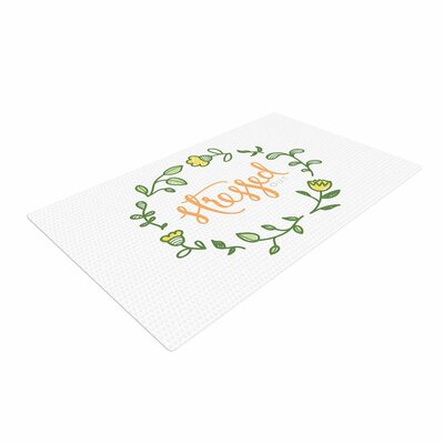 Busy Bree Stressed Out Floral Green Area Rug