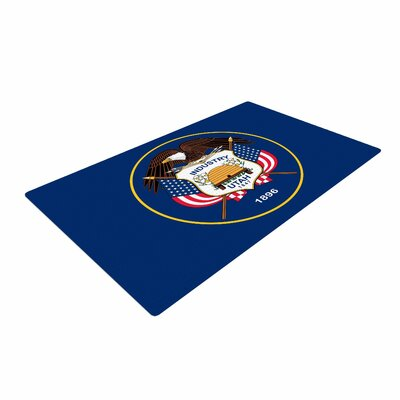 Bruce Stanfield Utah State Flag Authentic Blue/Red Area Rug