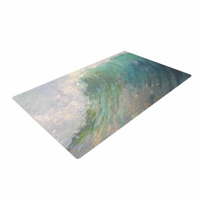Carol Schiff Wall of Water Painting Blue Area Rug