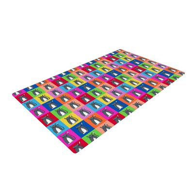 Bruce Stanfield Pussy Cat I Love You Rainbow Area Rug