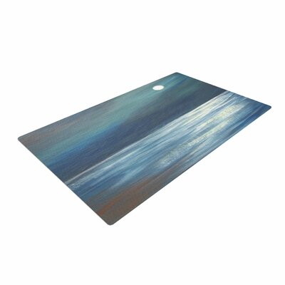 Cyndi Steen a Walk in the Moonlight Blue/White Area Rug