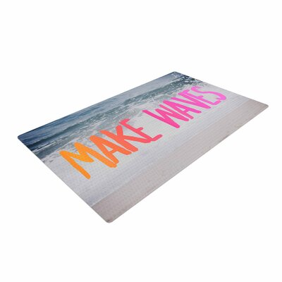 Chelsea Victoria Make Waves Photography Pink Area Rug