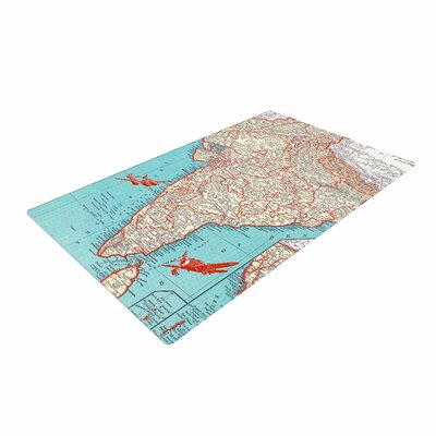 Catherine Holcombe Travel To India Teal/Red Area Rug Rug Size: 2 x 3