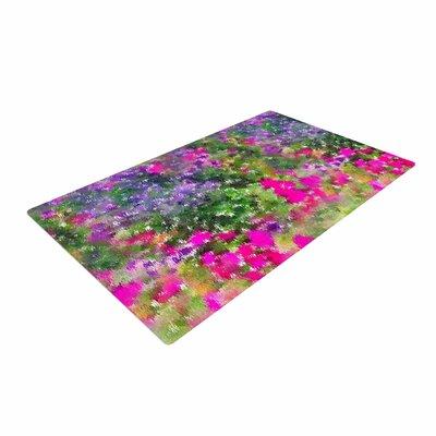 Carolyn Greifeld Water Florals Pink/Green Area Rug