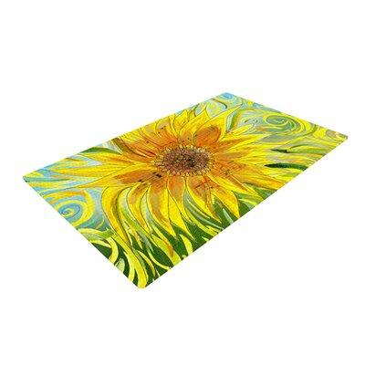 Catherine Holcombe Sunflower Symphony Yellow/Green Area Rug