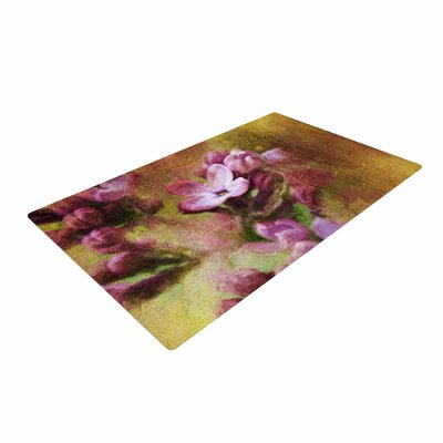 Ginkelmier Lilacs in Yellow Floral Pink Area Rug