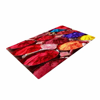 Carina Povarchik Indian Powders Photography Red Area Rug Rug Size: 4 x 6