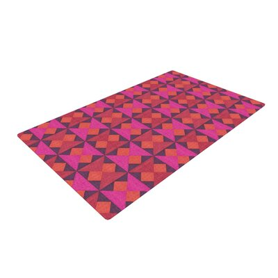 Empire Ruhl a Quilt Pattern Pink/Red Area Rug