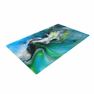 Carol Schiff Turquoise And Green Abstract Blue/Teal Area Rug