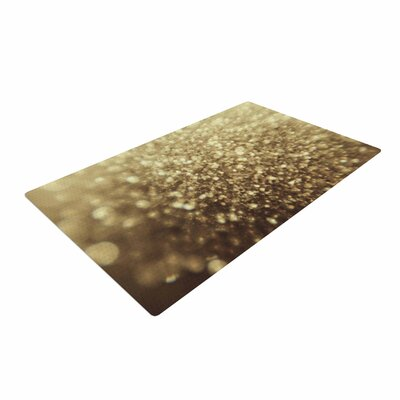 Chelsea Victoria Glitterati Photography Gold Area Rug Rug Size: 2 x 3