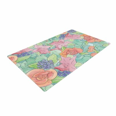 Catherine Holcombe Southwestern Floral Green/Purple Area Rug