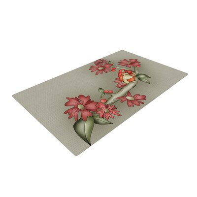 Carina Povarchik Feng Shui Red/Brown Area Rug Rug Size: 4 x 6