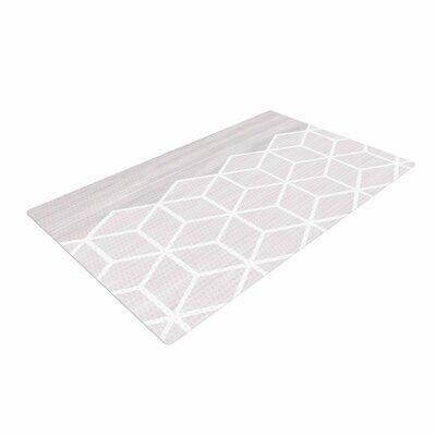 Draper Geo Woodgrain Gray/White Area Rug Rug Size: 4 x 6