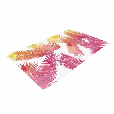 Draper Tropic Love Abstract Pink Area Rug