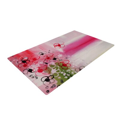 Cathy Rodgers Spring Dreams Pink/Yellow Area Rug Rug Size: 2 x 3