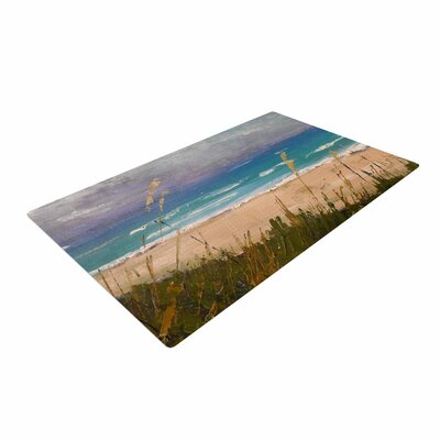 Carol Schiff Florida Beach Scene Coastal/Blue Area Rug
