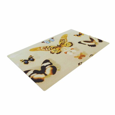 Chelsea Victoria the Butterfly Collection Photography Blue Area Rug