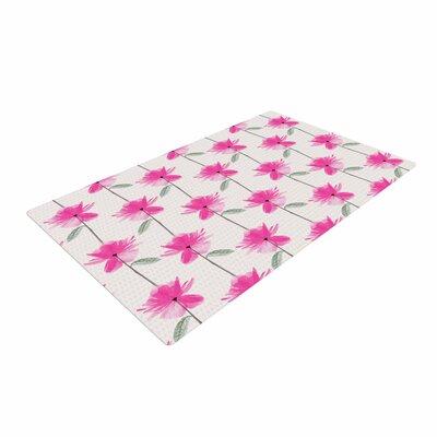 DLKG Design XRay Petals Modern Digital Pink/White Area Rug Rug Size: 4 x 6