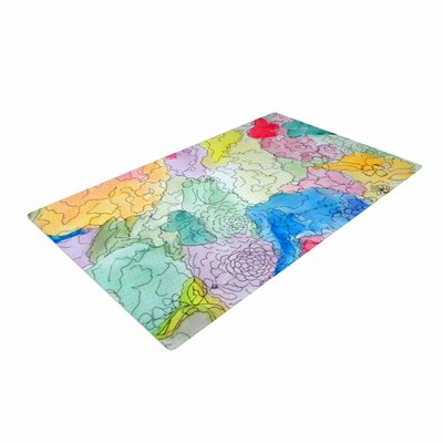 Cathy Rodgers Floral Pathway Blue/Green Area Rug