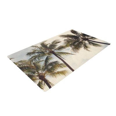 Catherine McDonald Boho Palms Coastal Trees Green Area Rug Rug Size: 4 x 6