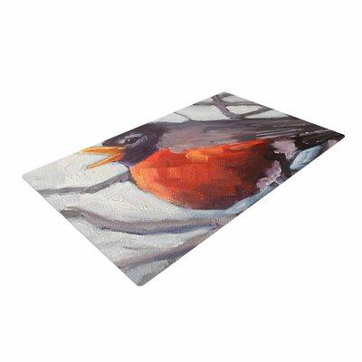 Carol Schiff Winter Robin Gray/Red Area Rug