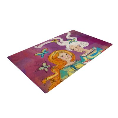 Carina Povarchik Amigas People Purple Area Rug Rug Size: 4 x 6