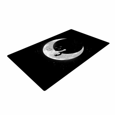Digital Carbine Moon Hug Black/White Area Rug