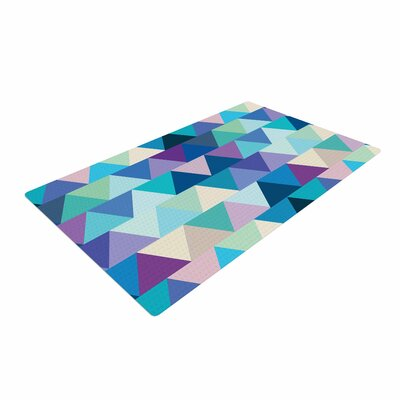 Draper Crystal Geometric Purple Area Rug