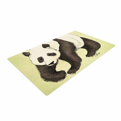 Carina Povarchik Happy Panda Animals Black Area Rug