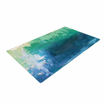 Carol Schiff Sea Music Painting Teal Area Rug
