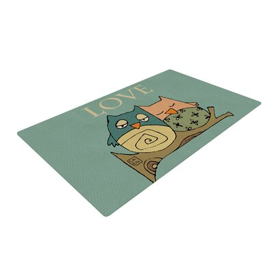 Carina Povarchik Lechuzas Love Owls Green Area Rug