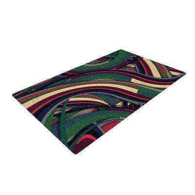 Danny Ivan Swirl Madness Geometric Dark Green Area Rug Rug Size: 2 x 3