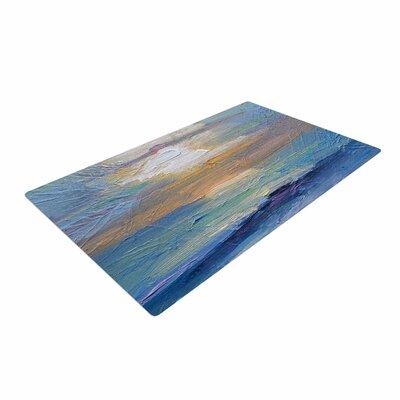 Carol Schiff Ocean Sunset Blue/Coastal Area Rug